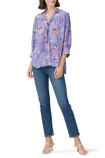 Floral Neck Tie Top