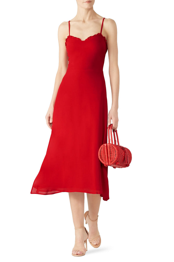 Cherry Red Cassandra Dress