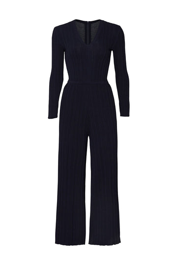 Navy Rib Jumpsuit