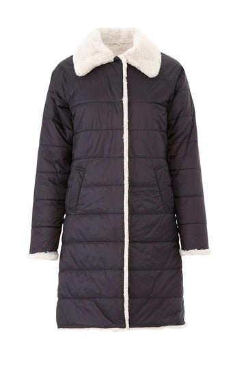 2 Be Real Faux Fur Puffa Coat