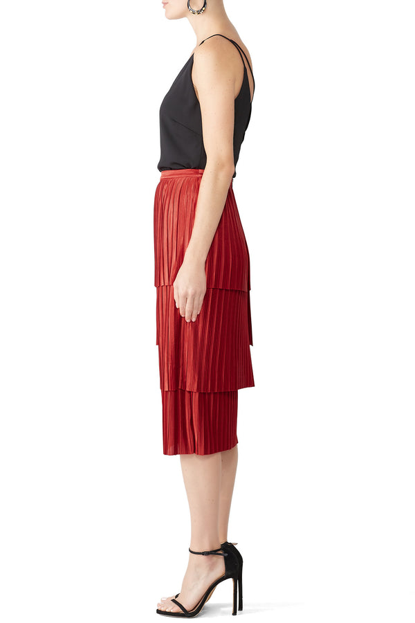 Illume Pleat Midi Skirt