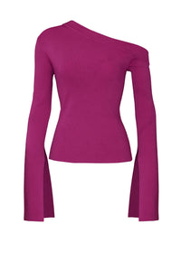 Magenta One Shoulder Top