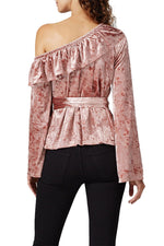 Blush Velvet Clarissa Top