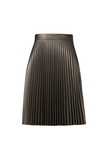Gunmetal Faux Leather Skirt