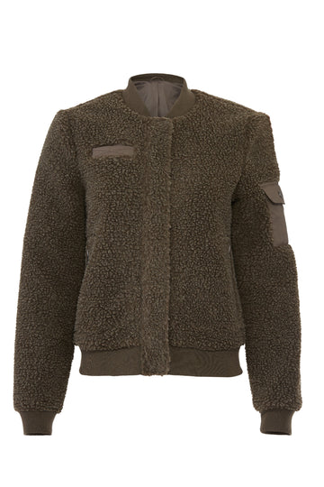 Brown Faux Sherpa Jacket