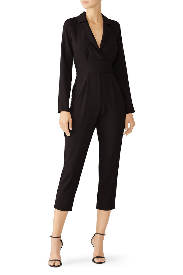 Cropped Tailored Jumpsuit