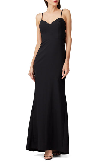 Black Side Panel Gown