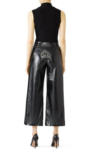 Handsome Lady Faux Leather Pants