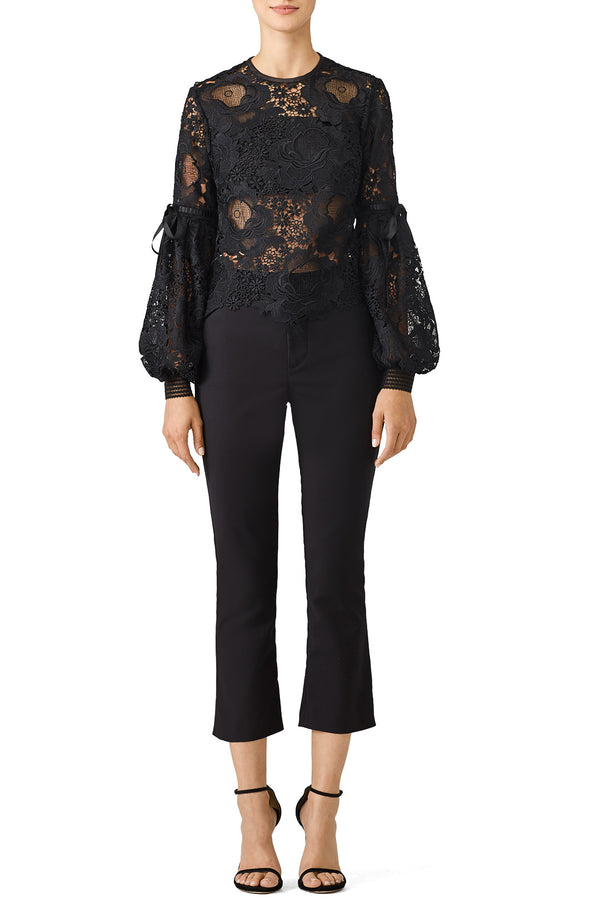 Black Elva Lace Top