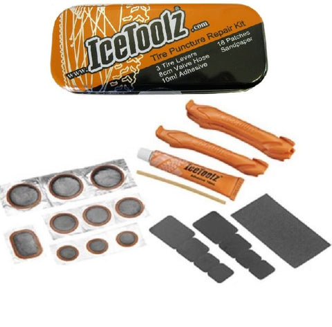 ICETOOLZ Puncture Repair Kit w/ Tyre Levers