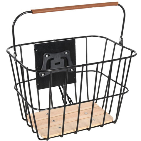 Wire & Wooden Basket w/ Quick Release