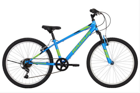 "RADIUS Leopard 24"" Mountain Bike - Gloss Blue/Lime"