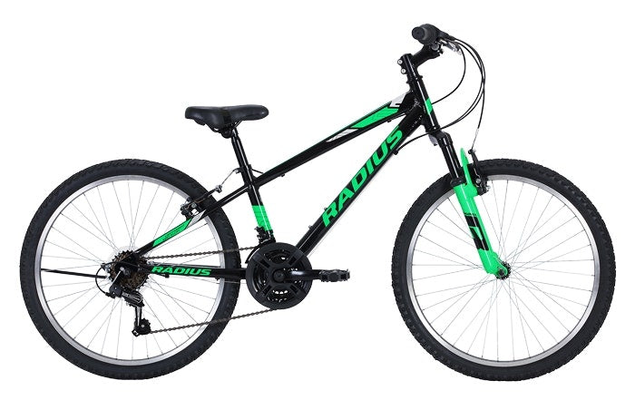 "RADIUS Axis 24""Mountain Bike - Black/ Green"