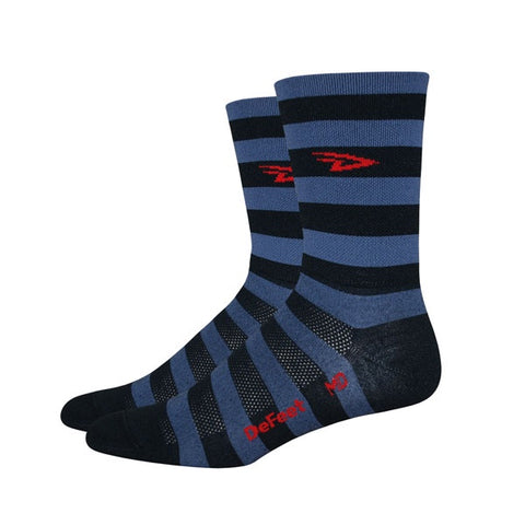 Defeet Aireator Tall Striped Black/Grey