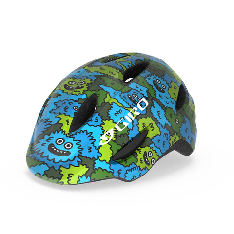 GIRO Scamp Kids Helmet - Camo Green/ Blue
