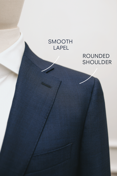 Smooth Lapel And Rounded Shoulder