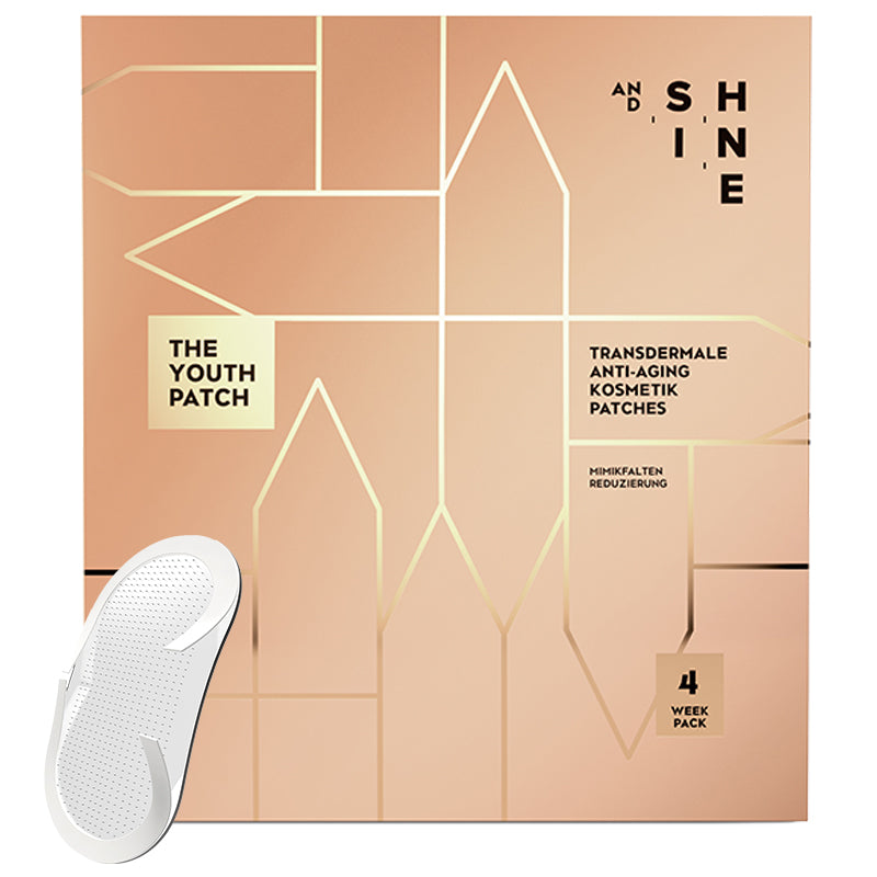 AND SHINE THE YOUTH PATCH anti-aging microneedling patches box