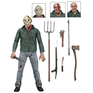 "Friday 13th 7"" Scale Action Figure Ultimate Part 3 Jason"