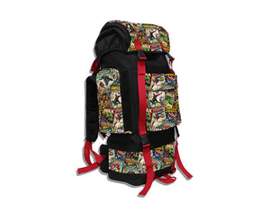 Retro Comic Red Camping Backpack