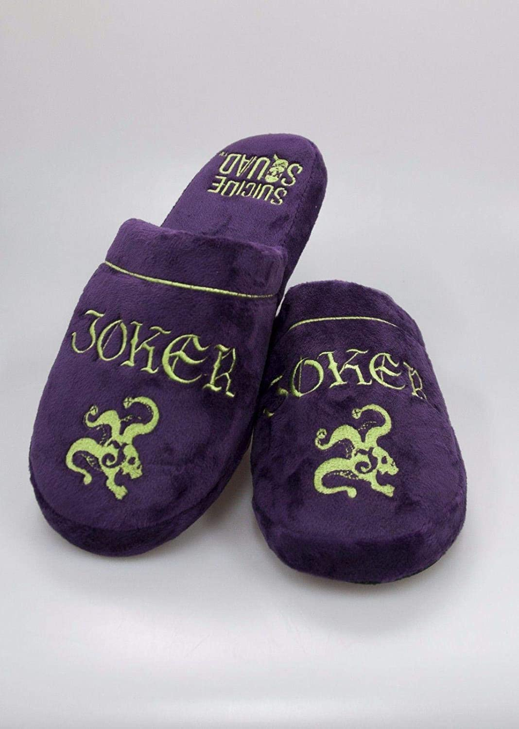 Joker Purple Adult Mule Slippers Large 8-10