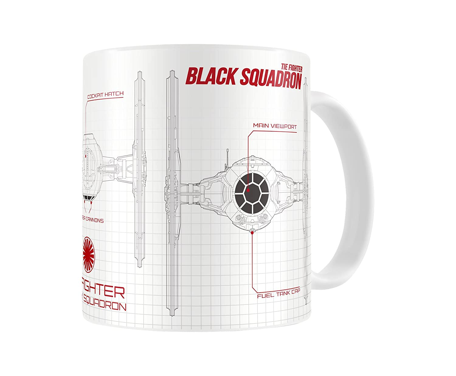 Star Wars Ep 7 Black Squadron Blueprint Ceramic Mug