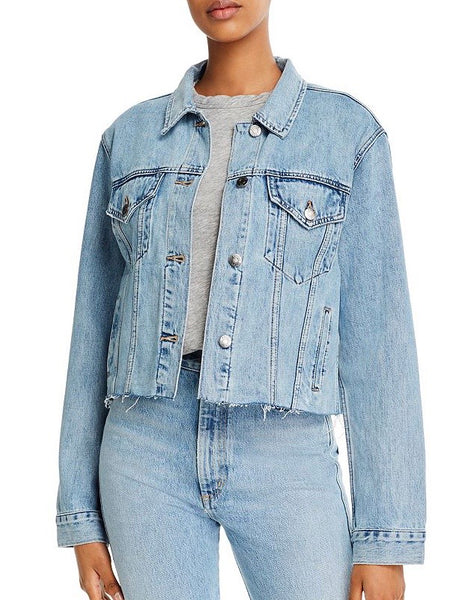 Naya Crop Denim Jacket in Heist