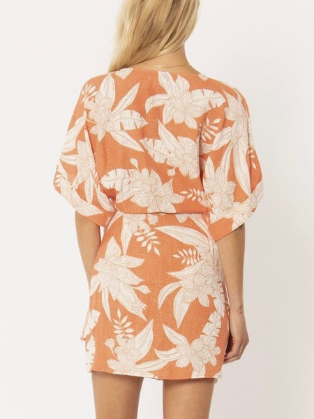 Mala Wrap Dress in Sunrise