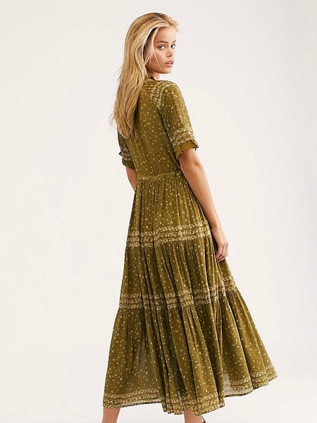 Rare Feeling Maxi Dress in Kiwi