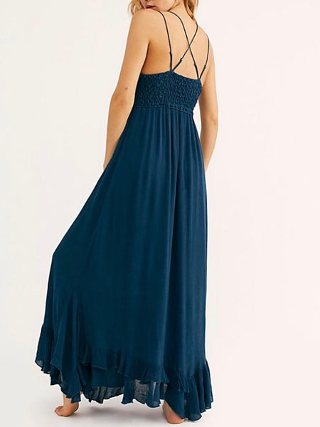 Adella Maxi Slip in Navy
