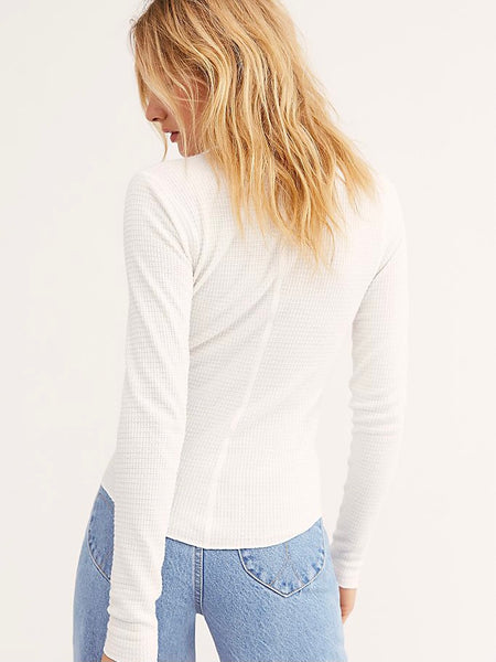 One Of The Girls Henley in Ivory