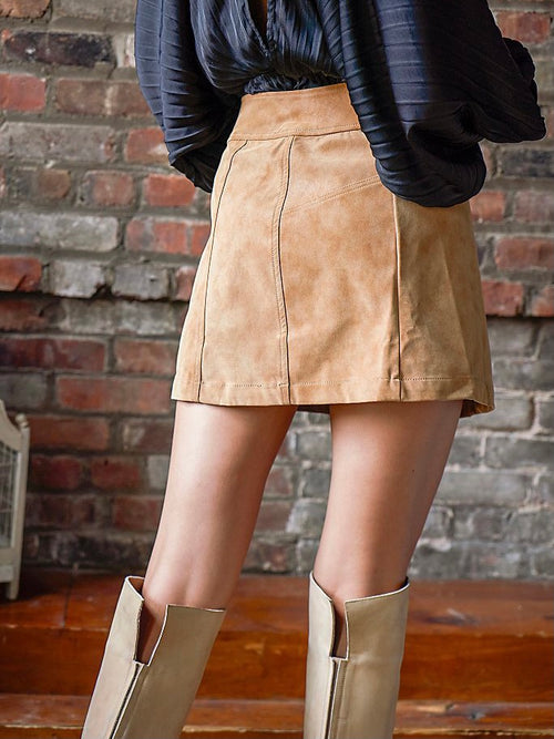 Ari Wrap Skirt in Camel