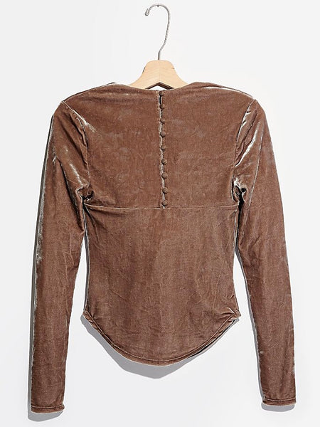 Perfect Date Top in Taupe Stone