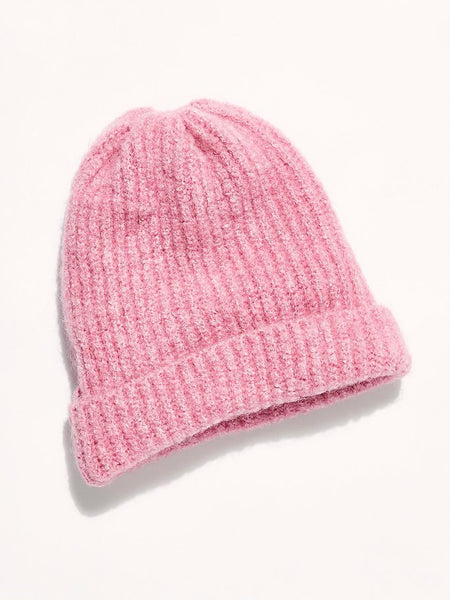 Lullaby Rib Beanie in Pink