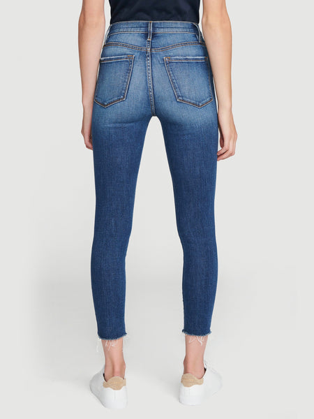 Ali High Rise Cigarette Raw Edge Jean in Lupin