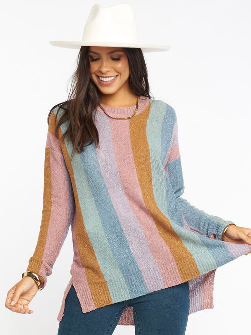 Elodie Sweater in Dusty Stripe Knit