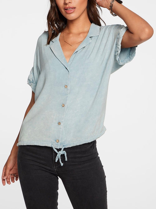 Heirloom Wovens Button Down in Powder Blue