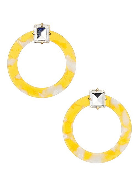 Afton Lucite Earring in Yellow