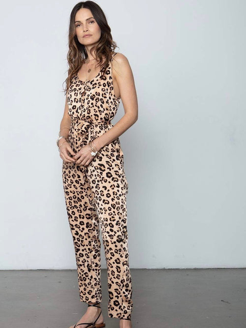 Lost in Love Jumpsuit in Leopard