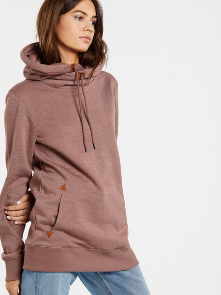 Tower Pullover Fleece in Rose Wood