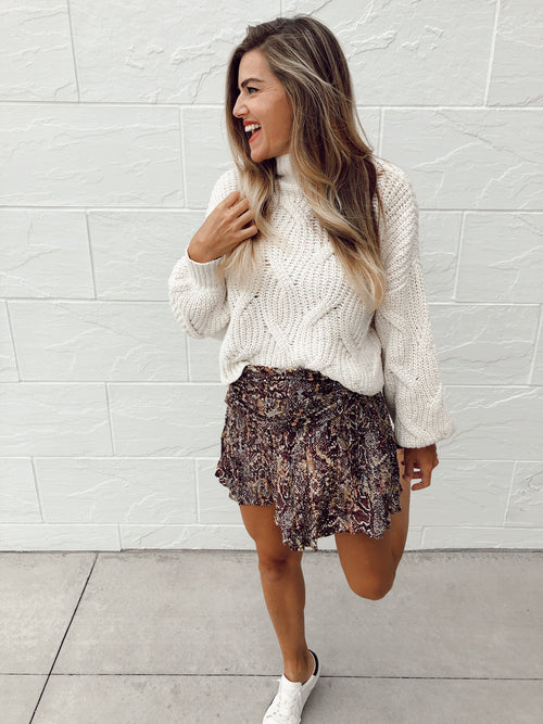 Saturday Sun Mini Skirt in Day and Night Combo