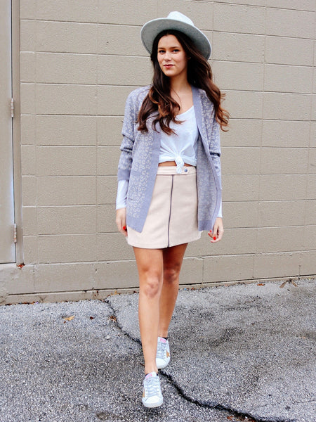Lady Crush Suede Skirt