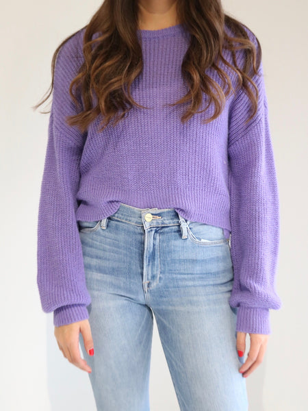 Rhonda Sweater in Aster Purple