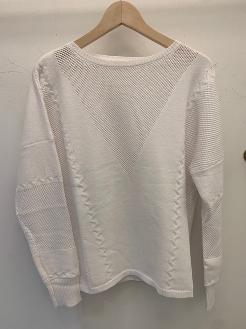 White Out Knit Sweater
