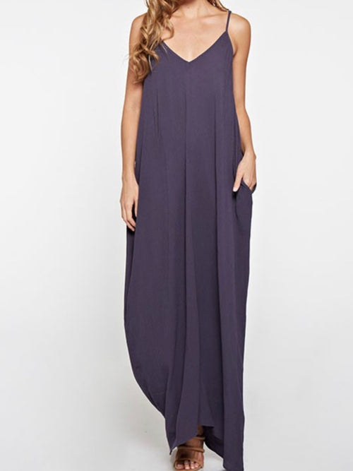 Strap On Drop Down Maxi in Charcoal
