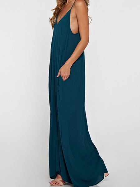 Strap On Drop Down Maxi in Peacock