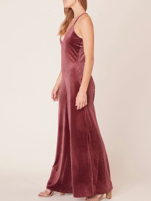 Magic Touch Velvet Jumpsuit