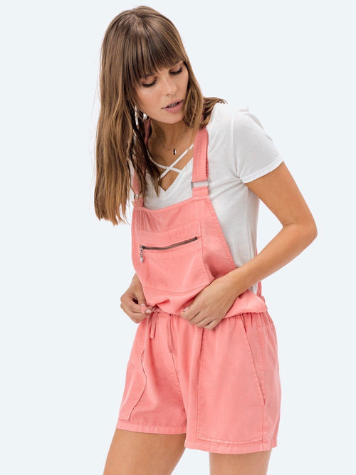 Draw You In Overalls in Dusty Coral