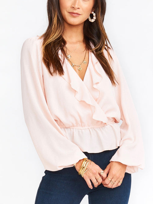 Brewster Top in Speckle Pink