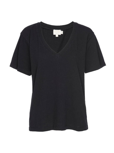 Nina Vintage Fit V - Neck in Black