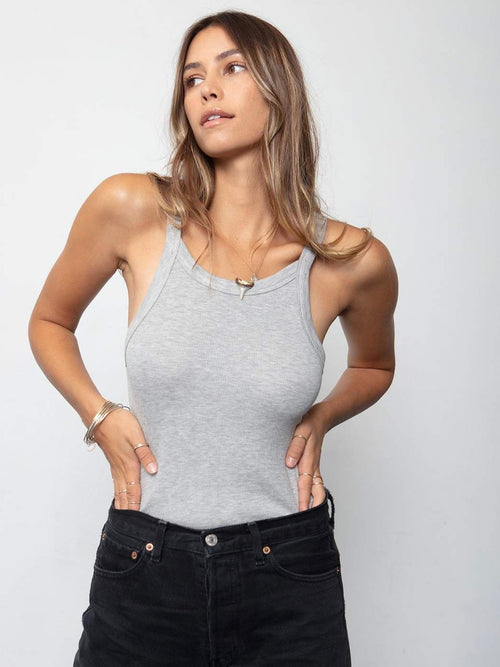 90s Rib Tank in Heather